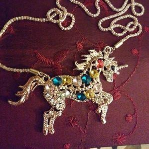 Swarovski multi gem Unicorn necklace